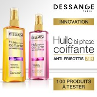 Test gratuit Huile coiffante anti-frisottis de Dessange