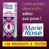 Test gratuit : Lotion Extra Forte poux + lentes de Marie Rose