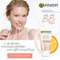 Testez gratuitement la BB Light de Garnier : 100 produits offerts
