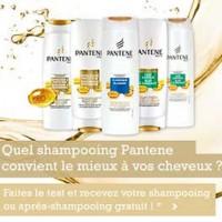 shampooing ou après-shampooing Pantene gratuit