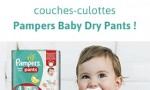Test Pampers : 1000 lots de 23 couches Baby-Dry Pants gratuits