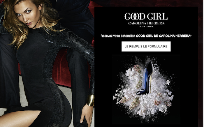 GratuitsLe Good Girl Parfum Echantillons Offert Carolina Herrera De Ybyf6g7
