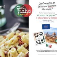 jeu Picard A la Decouverte des Saveurs Italiennes - jeu.picard.fr
