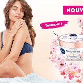 concours devenir testeuse - NIVEA Body Souffle Fleur de Cerisier & Huile de Jojoba