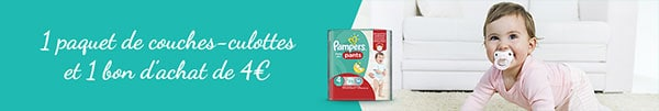 Couches Pampers Baby-Dry Pants gratuites à tester