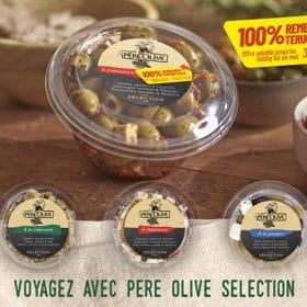 remboursement produit pere Olive Selection