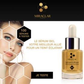 test Serum Liftant Bio Effet tenseur immediat de Miraclar