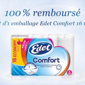 Soyez rembourse pour l'achat d'un paquet Edet Comfort de 16 rouleaux