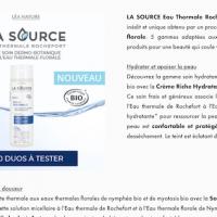 testez le duo soin toilette visage de LA SOURCE Eau Thermale Rochefort®